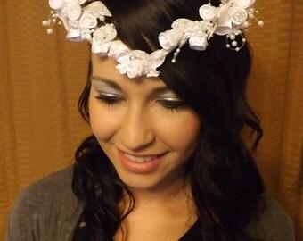 Bridal Heart Crown Hair Wedding Hairpiece Bride Vintage