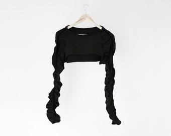 Scrunched shrug in black /B07/