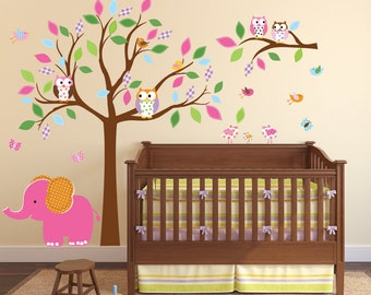 Vinyl Wall Decal  Children's Wall Decal - Tree Wall Decal - Tree Nursery Decal - Kids Wall Sticker - Vinyl Wall Decal
