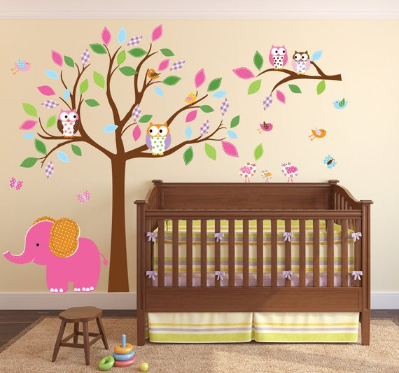 Children's Wall Decal - Tree Wall Decal - Tree Nursery Decal - Kids Wall Sticker - Vinyl Wall Decal