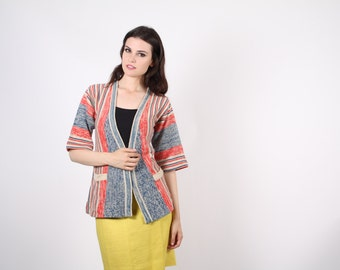 wrap sweater - vintage 1970s wrap cardigan - The Running Errands Cardigan  - 7015