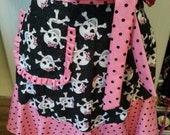 Polka Dot and Skulls Apron