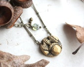 Gold Acorn Necklace, Acorn Charm, Fall Bridesmaid Gift, Fall Wedding Jewelry, Flower Girl Necklace, Acorn Pendant, Fall Jewelry