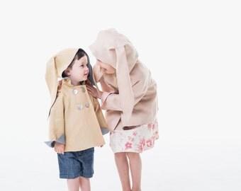 Boys Easter Bunny Coat in Linen