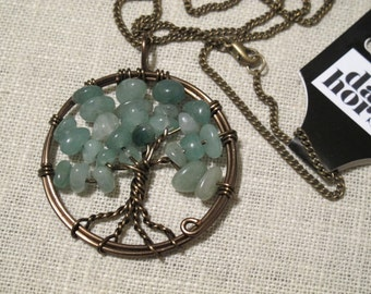 Tree of Life Pendant - Aventurine