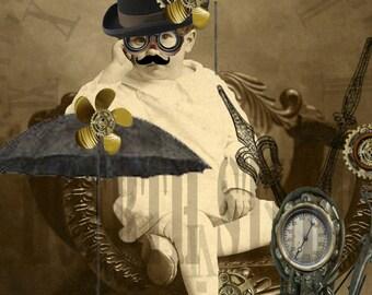 Steampunk Dress up Tiny time traveler