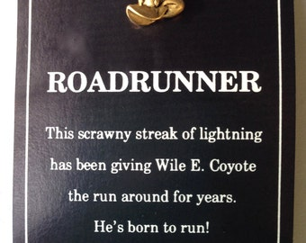 Road Runner, tac pin, Warner Brothers, 1992, vintage