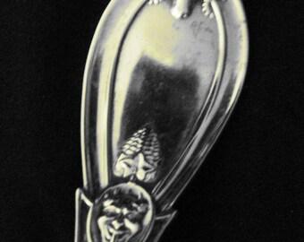 Ram's Head Sterling Serving Spoon, mid-1800's, Grecian Pattern