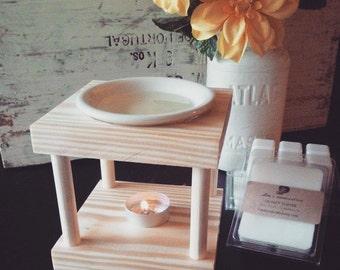 Handcrafted Wooden Tart Warmer- Wax Melter-Oil Burner-Handmade