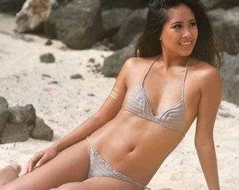Camel Women Swimwear Crochet Bikini Top Bikini Bottom Swimsuit Bathingsuit Summer Beachwear // senoaccessory