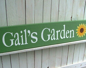 Custom Garden Sign: Personalized, Choose Colors, Wording and Design