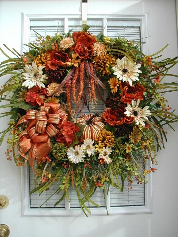 Thanksgiving Wreath Fall Door Decoration Front Door Wreath