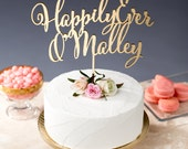 Happily Ever After Cake Topper - Wedding - Daydream Collection