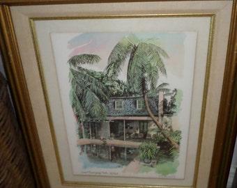 """R E Kennedy """"Key West STUDIO ERNEST HEMMINGWAY""""/10"""" x 12"""""""