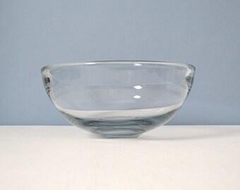 Vintage Per Lutken Smoke Glass Akva Bowl for Holmegaard