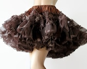 50s 60s Petticoat / Ruthad / Rockabilly / Brown / Square Dance / Circle Skirt
