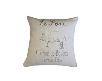 Le Porc - European Grain Sack Cushion cover