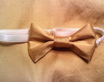 Gold little boys  bowtie listing for 1 qty