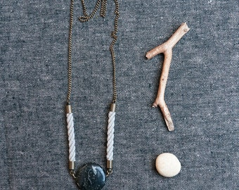 SAYO Rope and Jasper Necklace