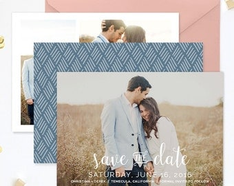 Save the Date Template for Photographers, Save the Date Card Announcement, Engagement Photography Templates, Photoshop Templates - SD137