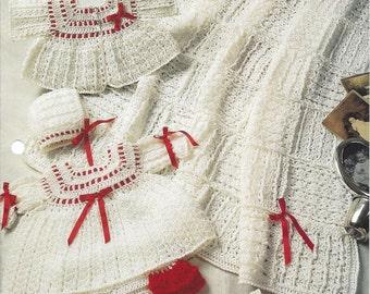 Prize-Winning Baby Layette - Annie's Crochet Quilt & Afghan - Crochet Pattern Baby Layette Blanket Afghan Nursery Baby Dress Valentines