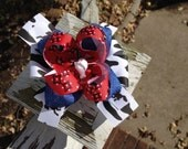 Stacked Country Western Red Bandana Hair Bow