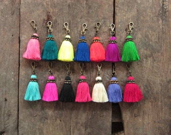 Tassel Keychain Tassel Gift Ideas Wholesale BOHO Chic Accessories Birthday Gift Ideas Original Gifting Unique & Colorful Gift Accessories