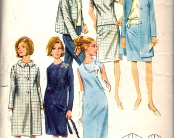 """Vintage 1960's Butterick 4192 Coordinate Wardrobe Sewing Pattern Size 16 Bust 36"""""""