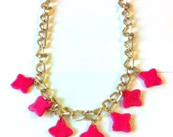 made-to-order Statement  necklace with petal charms