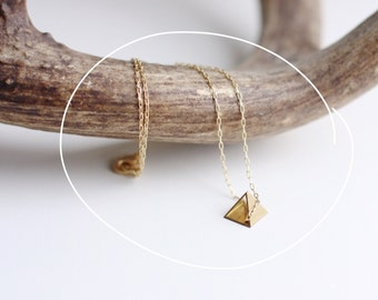 Tiny Pyramid Necklace