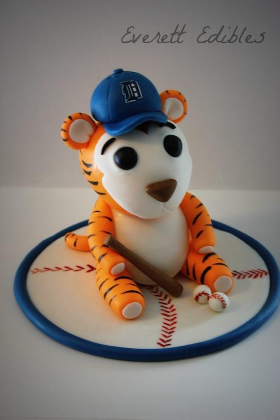 Detroit Tigers Cake Topper