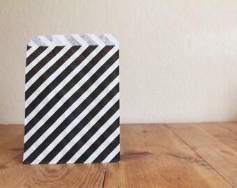 10 Black Favor Bags