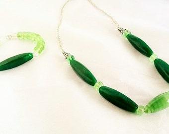 Green Zucchini Jewelry Set