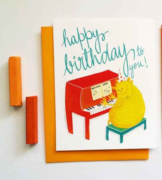 singing monster birthday card funny birthday song cute – Birthday Song Card