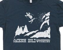 Ski T Shirt Skiing Jackson Hole T Shirt Vintage Wyoming T Shirt Retro Tees national park Snowboard T Shirt mens womens kids Shirts