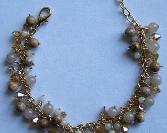 Gemstone dangle bracelet 0078FB