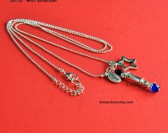 Decorative Steampunk Star Hope Screwdriver Silver Con Necklace Ball Chain