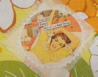Retro Coin Purse 50's Housewife Mobile Pouch / Wallet Mini Make up Bag Handmade