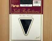 Hanes Navy Blue Size C-D Silk Reflections Pantyhose; New, Package Still Sealed