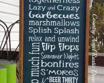 At the Cabin we do.... -handpainted wood sign, Cabin Rules sign, Lake sign, Lakehouse sign, Typography/Subway Sign, Rustic cabin decor