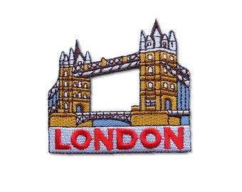 London Patch - London Tower Bridge Embroidered Patch / Tower Bridge Iron on Applique
