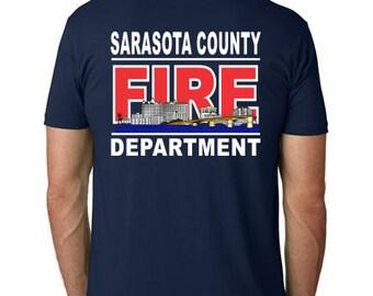 SCFD Skyline 100% cotton short sleeve t-shirt - Navy