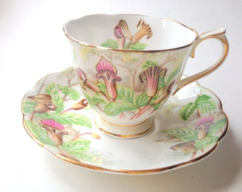 Royal Albert Tea Cup and Saucer, Lady Slipper Teacup, Jack-in-a-Pulpit Cup, Tea Set, Antique Teacups, Tea Cups and Saucers, China Tea Cups