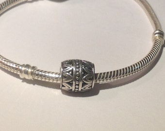 Authentic 925 Sterling Silver Charm Barrel no 2230 for Bracelet and Necklace