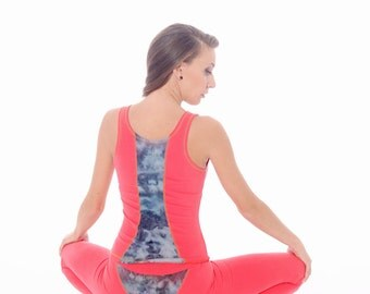 ORGANIC Cotton Top, Meditation Clothing, Burnout Tank Top, Racer Back Tank, Shibori Top, Gym Tank, Workout Tank, Sports Top, Yoga Tank