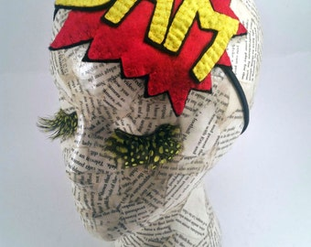 Handmade Comic Book Headband