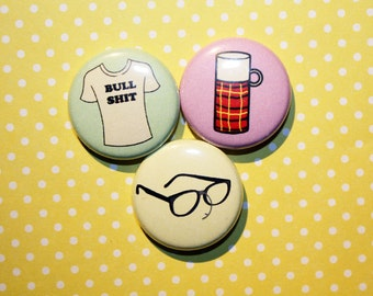 The Jerk Steve Martin- One Inch Pinback Button Magnet Set