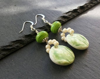 Green Charm Earrings