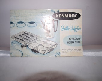 Grill Waffler instruction booklet, Vintage