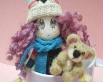 GERTIE a cute handmade doll (12 cm)